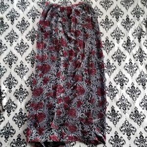 Hedgewitch velvet 90s goth floral skirt